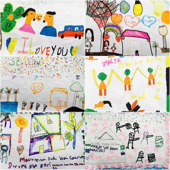 Student artwork sent to those who experienced the worst devastation of Hurricane Matthew